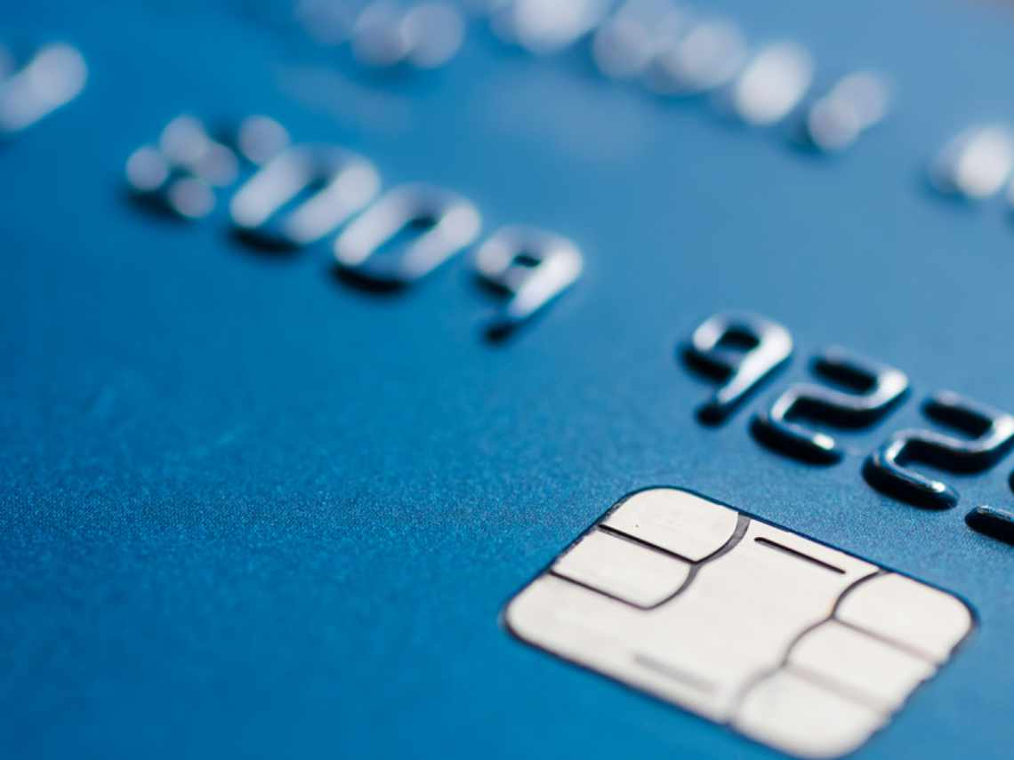 a blue chip card for payment processing