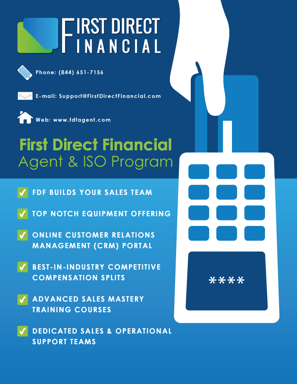 Merchant Account Sales Agent and ISO - First Direct Financial